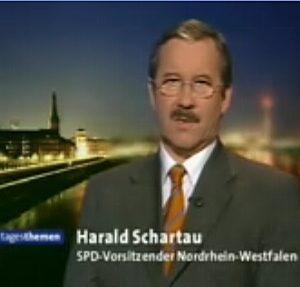 NRWSPD-Landesvorsitzender Harald Schartau im Interview mit Ulrich Wickert