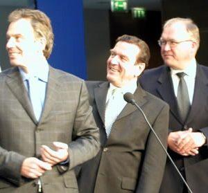 Tony Blair, Gerhard Schröder und Göran Persson am 22. 05. 03