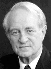 Porträtfoto von Johannes Rau in schwarz-weiß