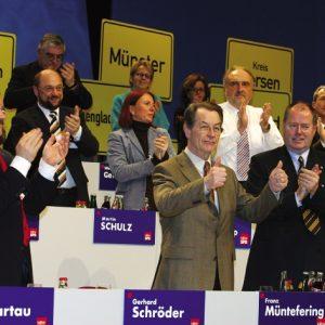 Franz Müntefering auf dem landesparteitag der NRWSPD