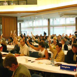 Abstimmung des Parteirates am 15. 06. 02