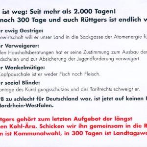 """""""Wo Rüttgers drauf steht, ist heiße Luft drin"""""""