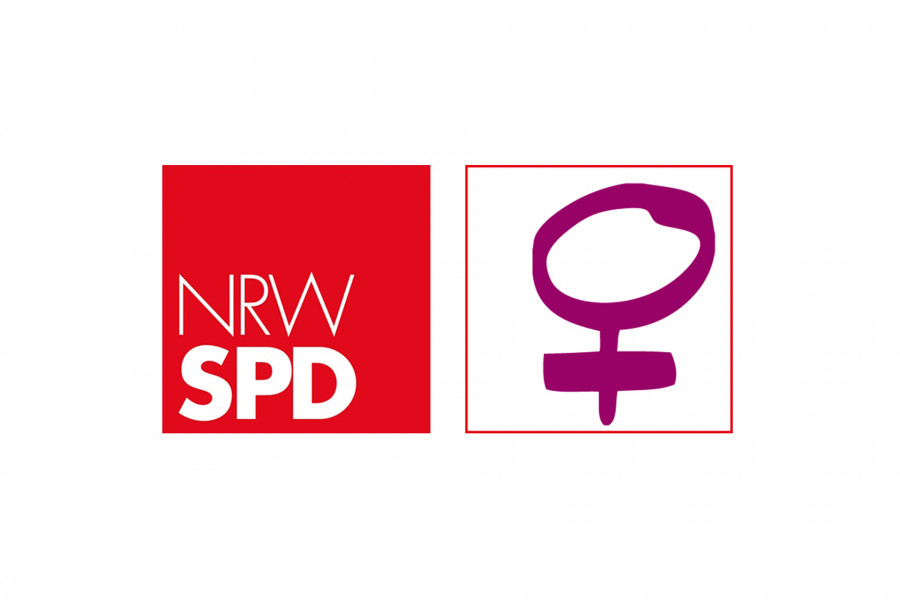 Logo NRWSPD Arbeitsgemeinschaft sozialdemokratischer Frauen