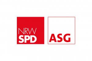 Logo der NRWSPD Arbeitsgemeinschaft der Sozialdemokratinnen und Sozialdemokraten im Gesundheitswesen