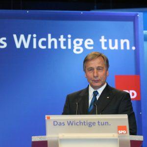 Rede von Wolfgang Clement während des Bundesparteitages in Bochum am 19. 11. 03