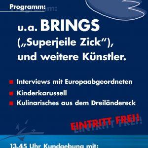 Flyer Friedensfest Aachen Seite 1