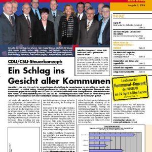 SGK Dier Kommunale Titelbild Ausgabe 02/2004