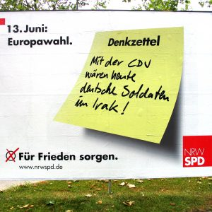 Plakat: Denkzettel Frieden