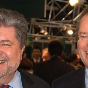 Die Ministerpräsidenten Peer Steinbrück und Kurt Beck