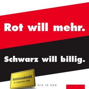 Arbeitsplätze. Rot will mehr. Schwarz will billig.