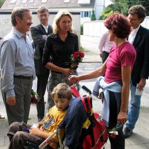 Gudrun Hock und Harald Schartau im Gespräch