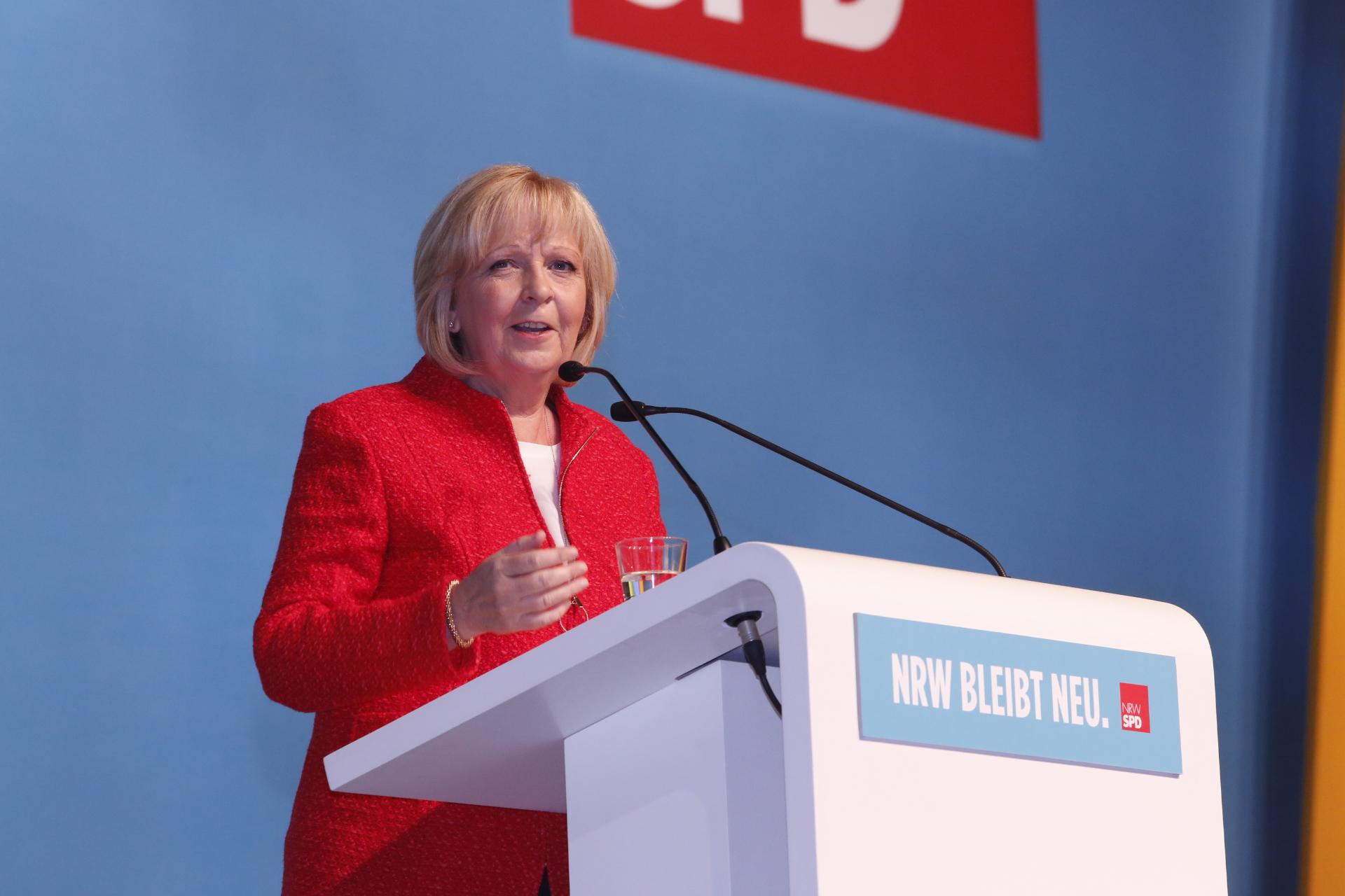 Hannelore Kraft bei ihrer Rede