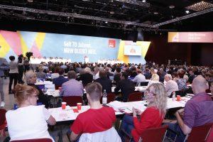Delegierte beim Landesparteitag