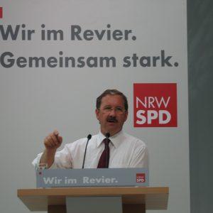 Ruhrkongress in Gelsenkirchen mit  Harald Schartau