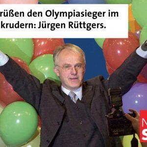 Jürgen Rüttgers: der Olympiasieger im Zurückrudern