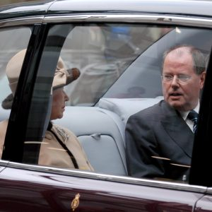 Königin Elisabeth II und Ministerpräsident Peer Steinbrück