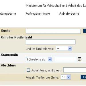 """Die Suchmaschine """"Weiterbildung in NRW"""""""