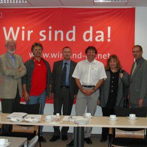 Grupenbild Arbeitnehmer NRW für Schröder: Wir sind Da !