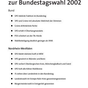 Wahltelegramm zur Bundestagswahl 2002
