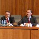 Michael Groschek und  Harald Schartau am 08. 10. 03