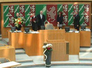 Vereidigung von Peer Steinbrück zum Ministerpräsidenten am 06. 11. 02