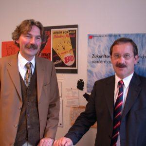 Harald Schartau und Günther Wegmann am 15. 11. 02