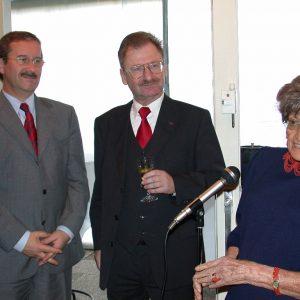 Marianne Kühn und Harald Schartau am 17. 11. 02