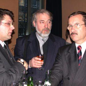 Harald Schartau mit dem Vorsitzenden der AGS Essen, Rechtsanwalt Jörg Schintze