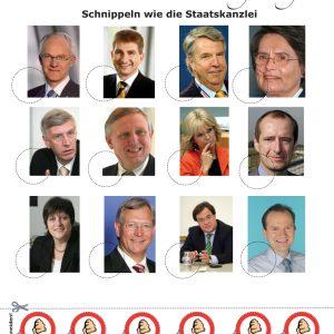 Bastelbogen: Bewerten Sie Ihre Landesregierung!