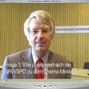 Videopodcast Nr. 01/2006 mit Jochen Dieckmann