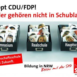 Plakat: Kinder gehören nicht in Schubladen