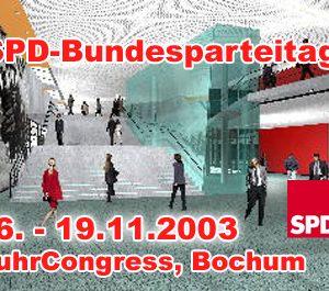 "Plakat ""SPD-Bundesparteitag im RuhrCongress Bochum"""