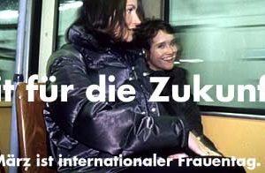 """Banner zum internationalen Frauentag """"Fit für die Zukunft"""""""