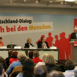 Frank-Walter Steinmeier: stellv. Parteivorsitzender und Mitglied des Präsidiums, Bundesminister für Auswärtiges zu Gast in Dortmund