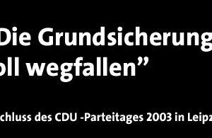 """CDU: """"Die Grundsicherung soll wegfallen"""""""