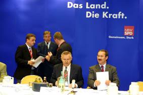Podium der Gelsenkirchener Gespräche am 12. 04. 02