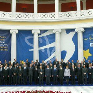 Gruppenbild EU-Gipfel Athen