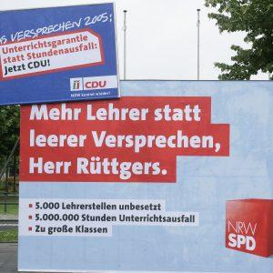 """""""Mehr Lehrer statt leerer Versprechen, Herr Rüttgers"""""""