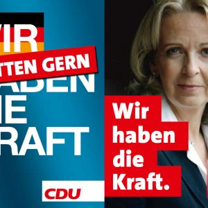 Plakat: Wir haben die Kraft / Wir hätten gerne die Kraft