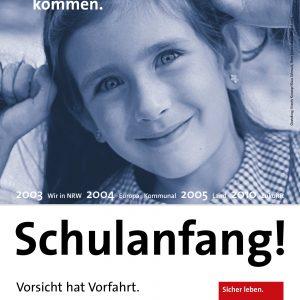 NRWSPD-Flugblatt Schulanfang ! Vorsicht hat Vorfahrt !