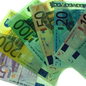 Euro-Geldscheine 5 bis 500 Euro