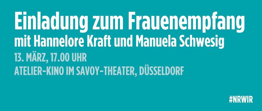 Frauenempfang mit Hannelore Kraft und Manuela Schwesig