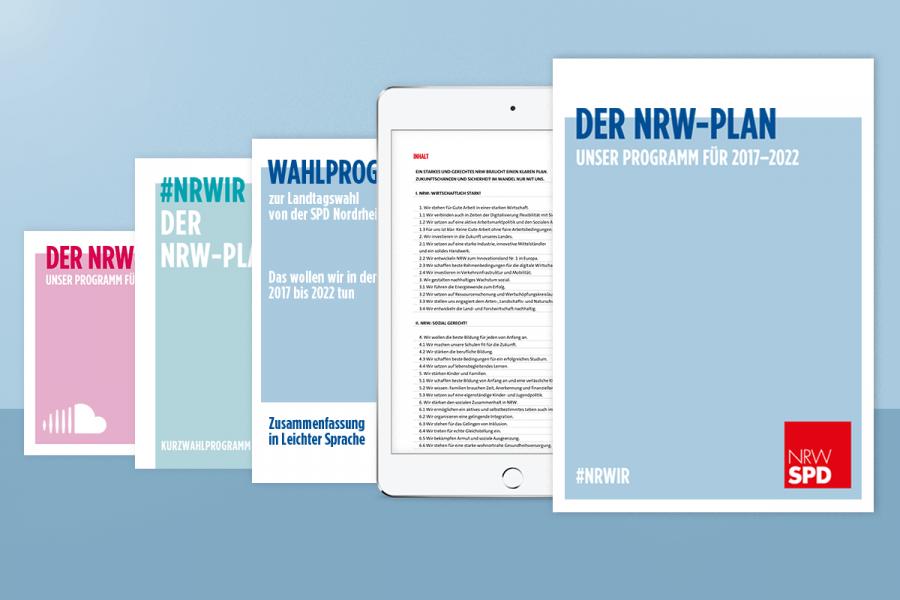 Beitragsbild zum Wahlprogramm der NRWSPD