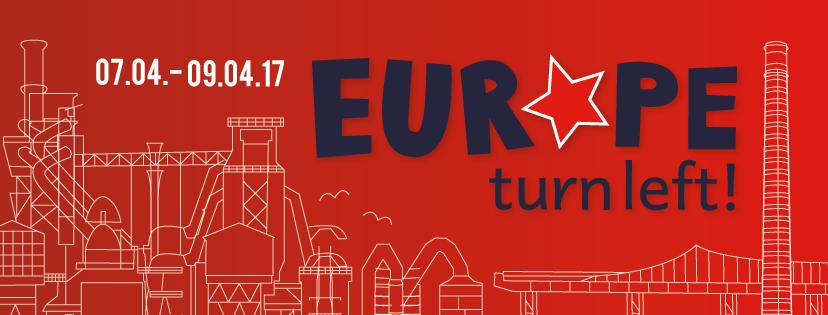 """Digitale Einladung zum """"Europe turn left""""-Festival vom 7.4. bis 9.4.17"""