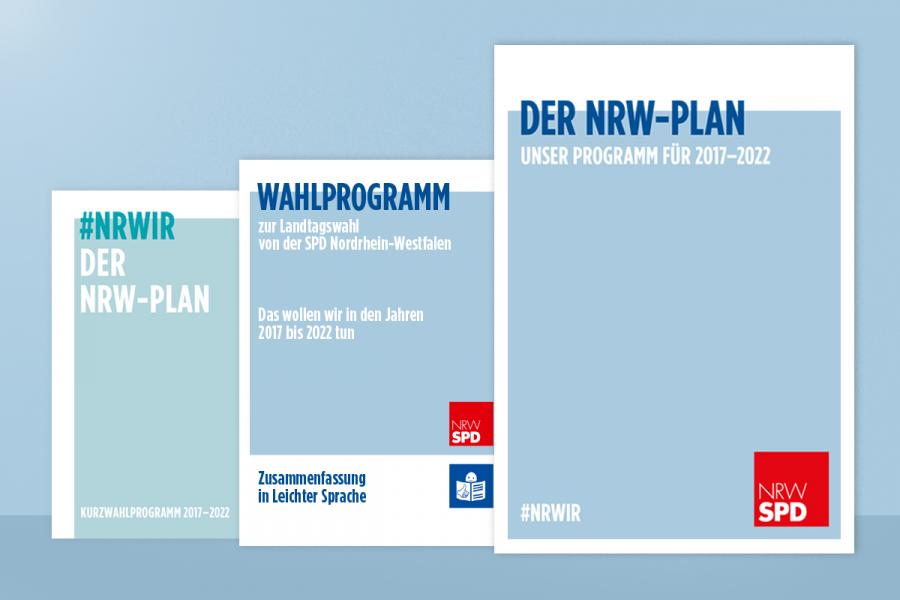 Deckblatt des Wahlprogramms der NRWSPD zur Landtagswahl 2017.
