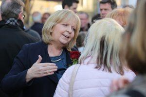 Hannelore Kraft im Straßenwahlkampf