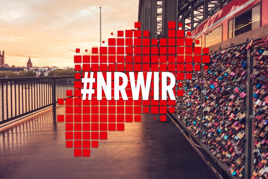"""Das Logo des Videowettbewerbs """"#NRWIR lieben NRW"""""""