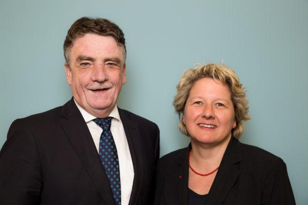 Mike Groschek und Svenja Schulze