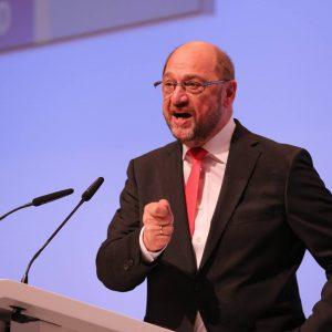 Martin Schulz bei einer Rede auf dem Landesparteitag