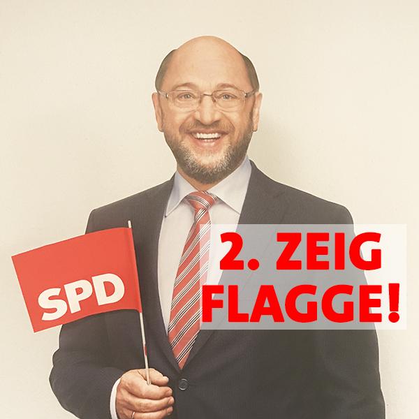 Regel 2 im Haustürwahlkampf - Zeig Flagge!